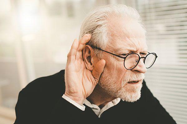 Senior having trouble hearing