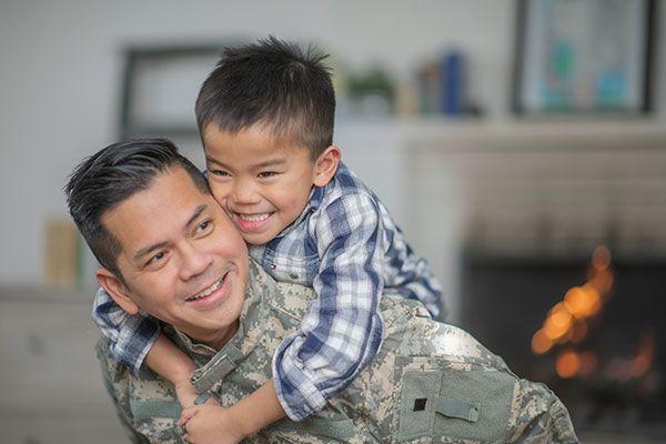Veteran with son